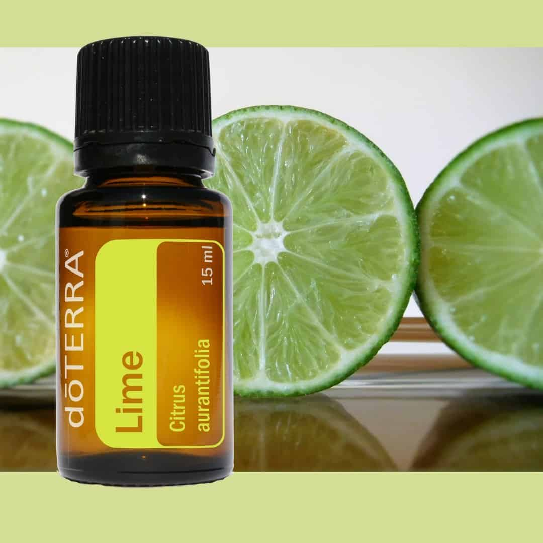 Lime essential oil clears and balance (heart/mind) space